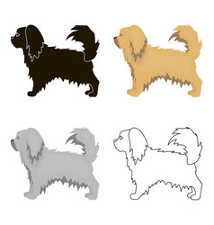 Pekingese icon in cartoon style for web vector