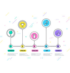 Process business infographic with strategy vector