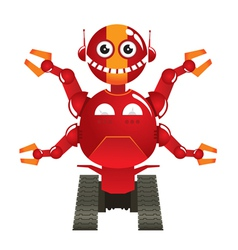 red robot vector image