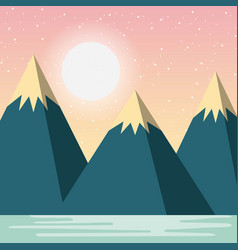 relaxing cold landscape vector image