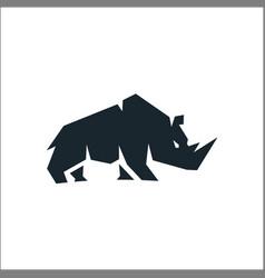 Rhino silhouette symbol for logo vector