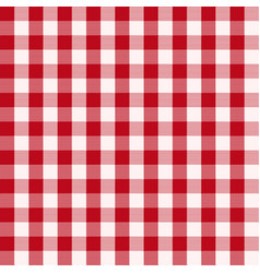 Seamless checked red vichy pattern vector