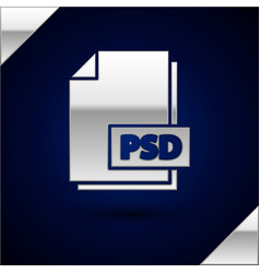 Silver psd file document download psd button icon vector