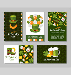 St patricks day greeting card flat vector