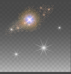 stars on isolated background glowing glare vector image