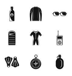 submersion icons set simple style vector image