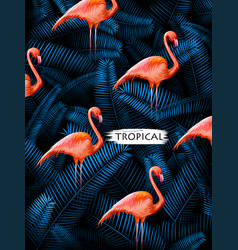 summer time exotic tropical poster design vector image