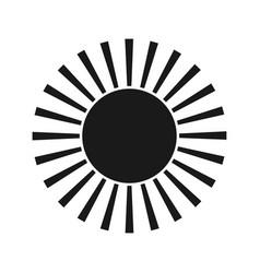 Sun black icon element for design vector