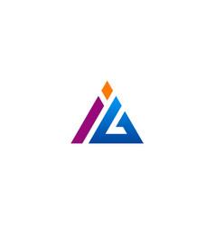 triangle abstract company logo vector image