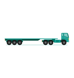 truck trailer long vehicle with flat design style vector image