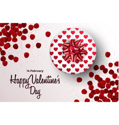 valentines day card or banner vector image