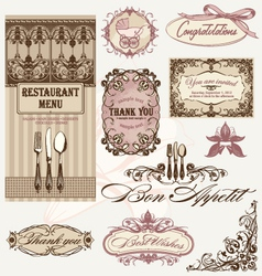 vintage frames and decoration vector image