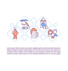 Viral hepatitis causes concept line icons vector