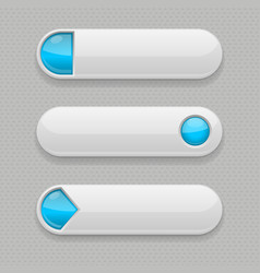 web buttons white icons with blue tags vector image