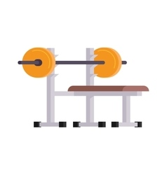 Weightlifting lying vector image
