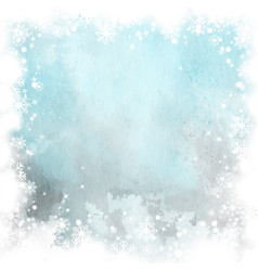 winter christmas card background with blue vector image