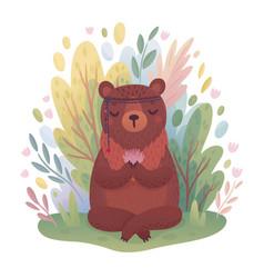woodland boho character vector image