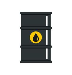 black oil barrel icon flat style vector image