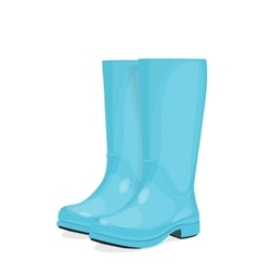 Blue rubber boots vector image vector image