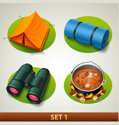 tourism icon-set 1 vector image