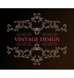 vector vintage royal retro frame ornament decor vector image vector image