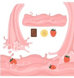 Milk splash design elements vector image