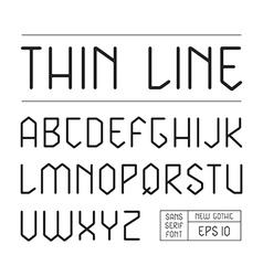 Sans serif lineales geometric font vector image vector image