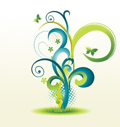 beautiful floral design vector image