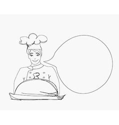 doodle Cook on a white background vector image vector image