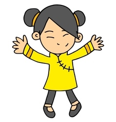 girl Chinese character vector image