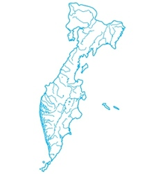 map of russian kamchatka vector image vector image