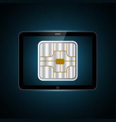 technology future tablet card chip vector image
