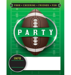 American Football Party Template vector image vector image