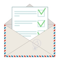 Approved message on white background vector image vector image