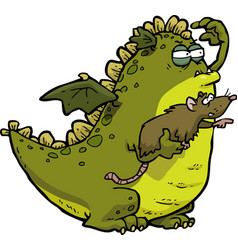 dragon and mouse vector image vector image