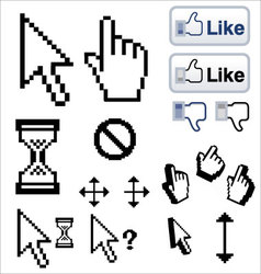 mouse pointers arrow hand finger vector image vector image