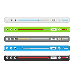 Music Player Templates vector image vector image