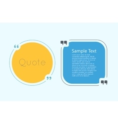 Quote text bubble vector image vector image