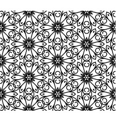 seamless abstract beautiful floral pattern vector image vector image
