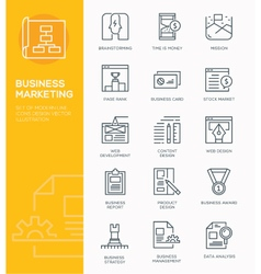 Set of Modern Line icon design Concept of Business vector image