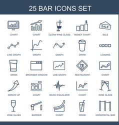 25 bar icons vector