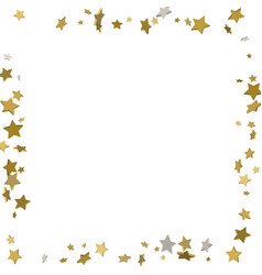 3d gold frame or border of random scatter golden vector