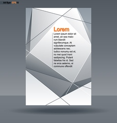 Abstract print A4 design with silver triangles and vector image