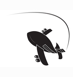 Airplane isolated vector
