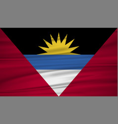 antigua and barbuda flag antigua and barbuda vector image