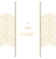 Arabesque abstract classic element vintage white vector