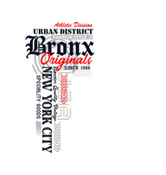 athletic new york bronx typography vector image