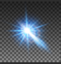 bright bright flashes of white color with a blue vector image
