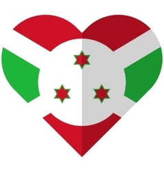 Burundi flat heart flag vector