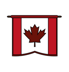 canadian cartoon flat vector image